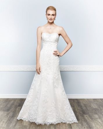 Unique Strapless Wedding Dress By Keneth Winston