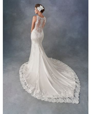 Style 1796 by Kenneth Winston Wedding Dress Lace/Embroidered Lace/English Net/Stretch Lining
