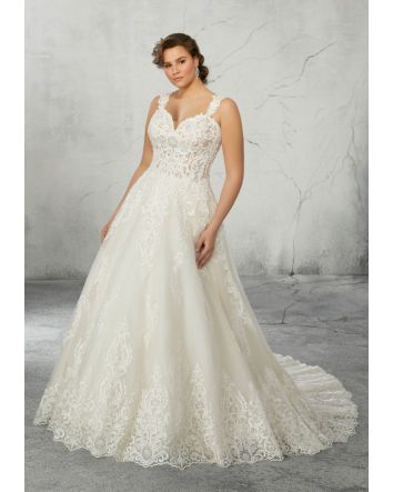 Rhonda Plus Size Wedding Dress  Style: 3272 by Morilee features a Sweetheart Neckline with an A-Line, Ball Gown Silhouette