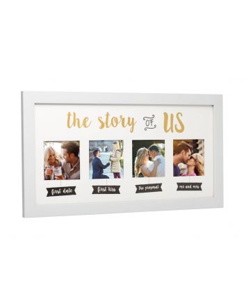 The Love Story of Us Photo Frame, Capture and Cherish Forever Your Love Journey & Live Happily Ever After Keepsake Frame
