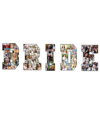 """BRIDE Photo Letters 24"""" Tall A-Z Collages Personalized Memories Gift Set"""