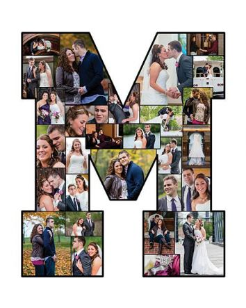 "Photo Letters 24"" Tall A-Z Collages Personalized Memories Gift Set"