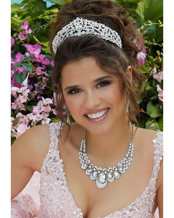 Rose Gold & Silver Quinceañera Headpiece by Morilee