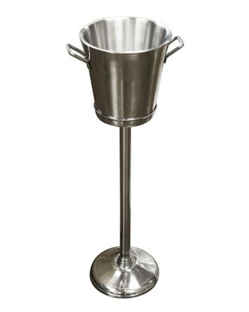 The King of the Castle Champagne Bucket with Stand is the perfect accessory for those who love to entertain. Its modern design and clean finish allow you to elegantly present your wine while keeping it perfectly chilled. Ideal for celebrating any occasion
