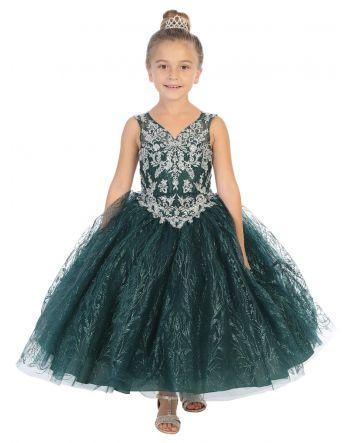 Holiday Tween Dress - Hunter Green