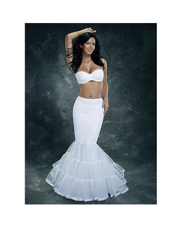 Fit-and-Flare Spandex Mermaid Petticoat