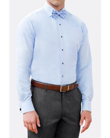 Light Blue Slim Fit Microfiber Shirt