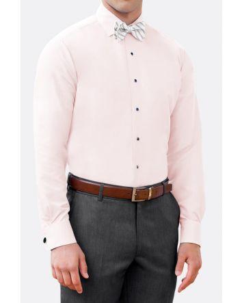 Light Pink Slim Fit Microfiber Shirt