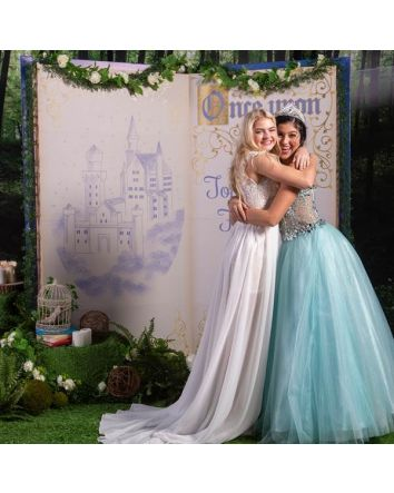Once Upon a Time Fairytale Storybook 3D Photo Prop with a Personalized Message, Capture The Fun & Excitement of Your Special DaY with Family & Friends