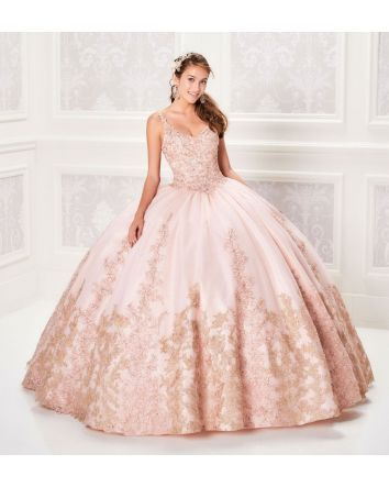 Ariana Vara Collection - Sleeveless Sparkle Tulle / Applique Ball Gown