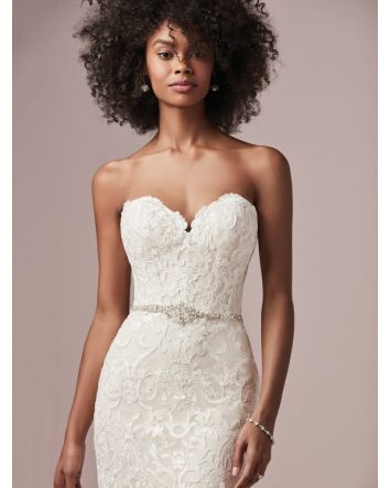 Finola Strapless Fit-and-Flare Wedding Dress