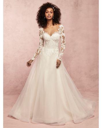 Rina Long Sleeve Princess Wedding Dress