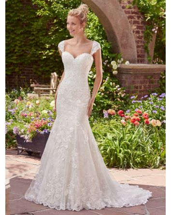 Brenda Fit-and-Flare Wedding Dress