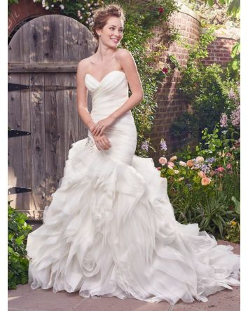 Isabelle Organza Mermaid Wedding Dress by Rebecca Ingram Couture Sample Sale 