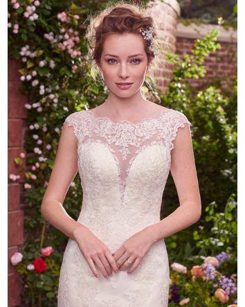 Whimsical , Julie  Cap Sleeve Sheath Wedding Gown