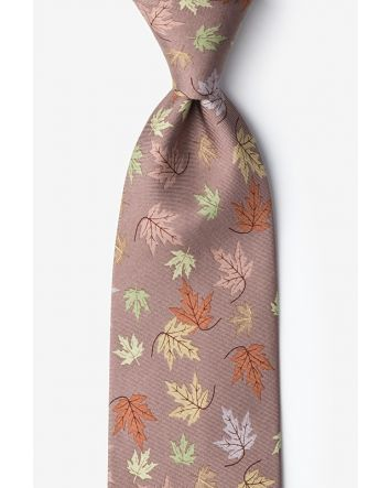 Leaves of Fall Tan/taupe Tie