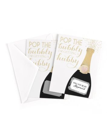 Champagne Will You Be My Bridesmaid Pop the Questions  Scratch Off Card Pack of 7 